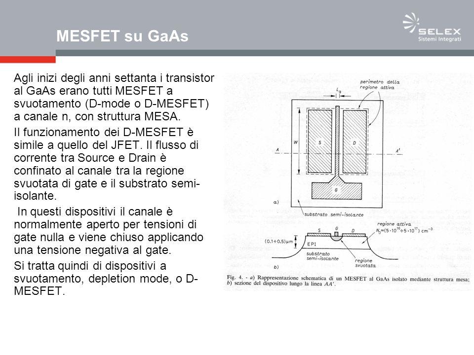 MESFET su GaAs