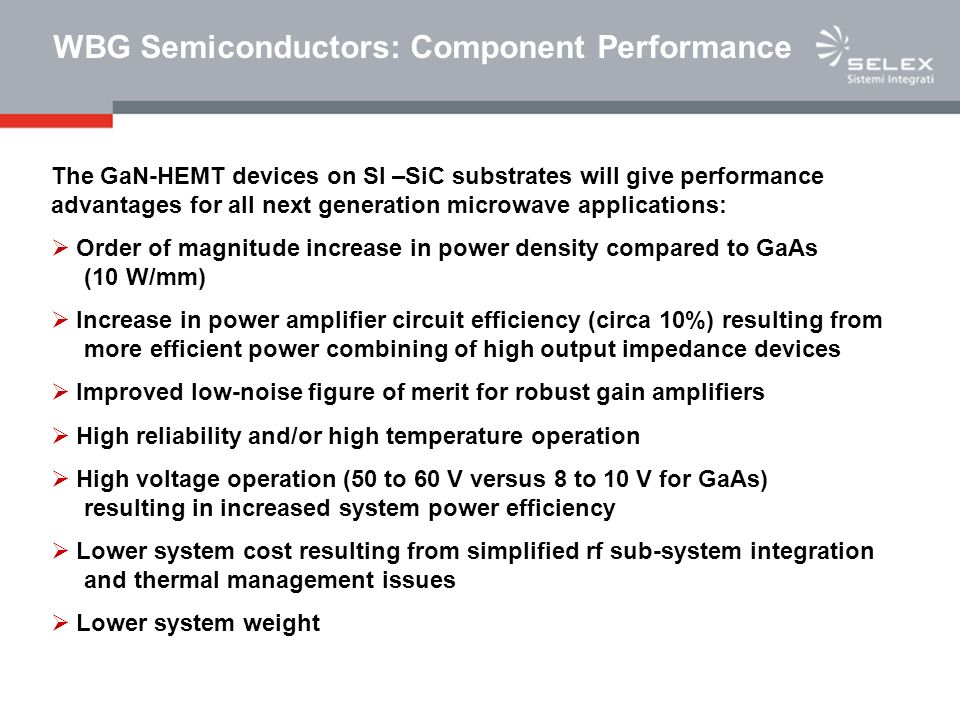 WBG Semiconductors: Component Performance