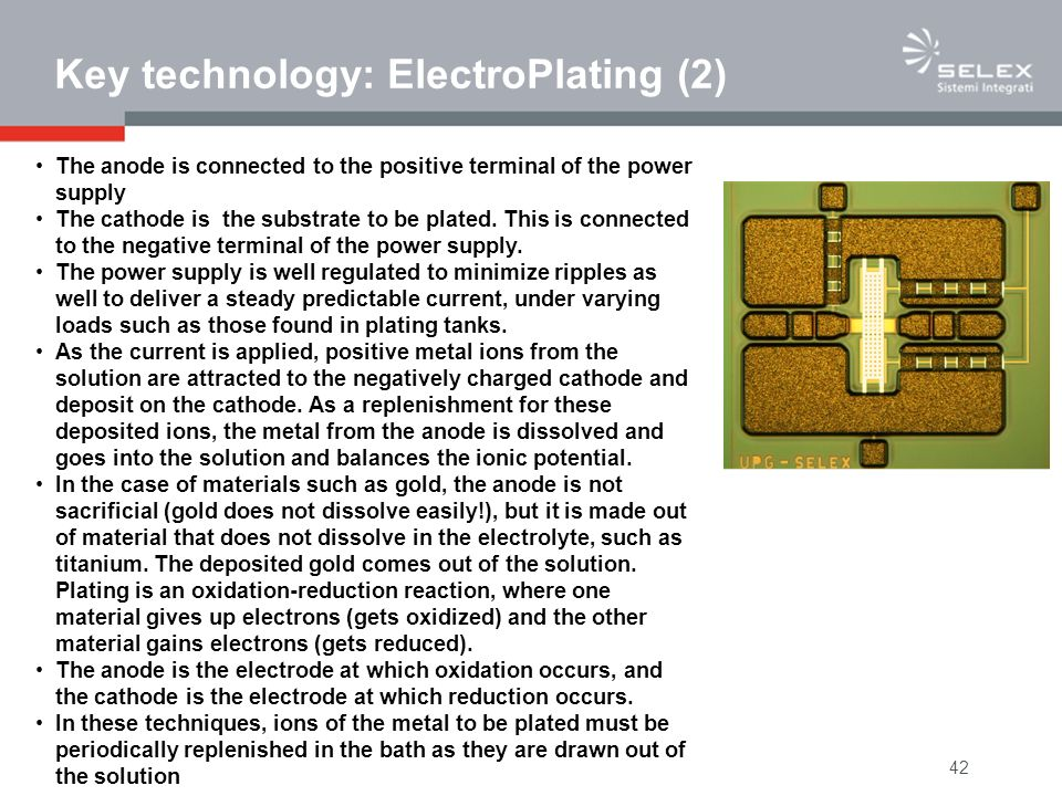 Key technology: ElectroPlating (2)