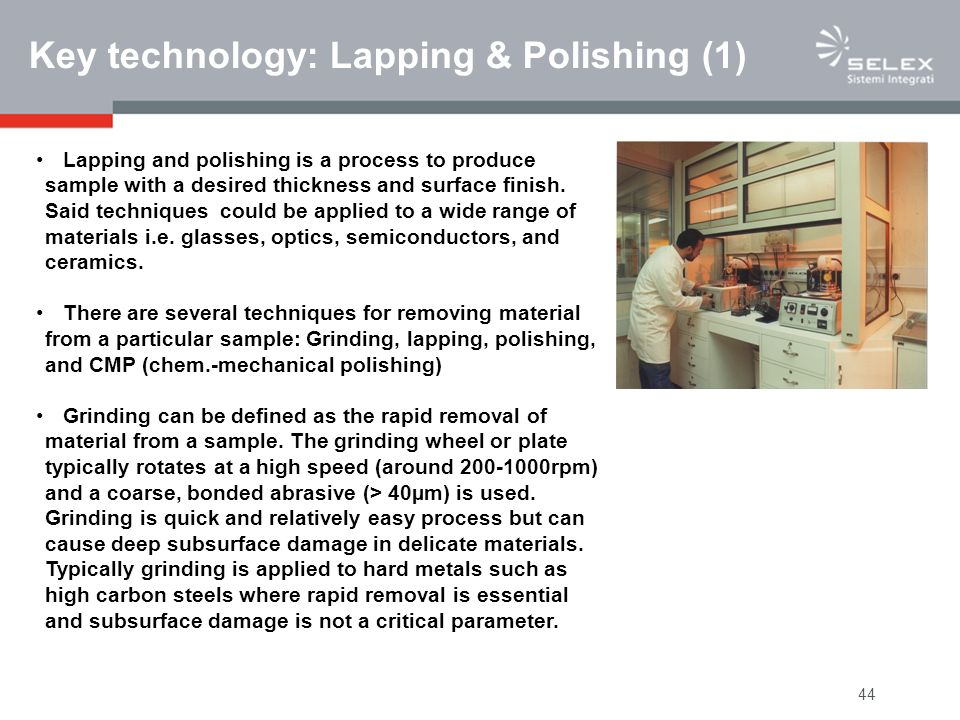 Key technology: Lapping & Polishing (1)