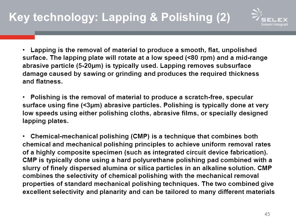 Key technology: Lapping & Polishing (2)