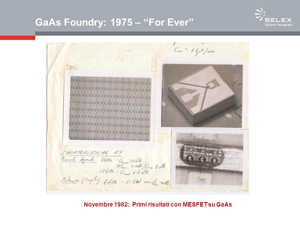 GaAs Foundry: 1975 – For Ever