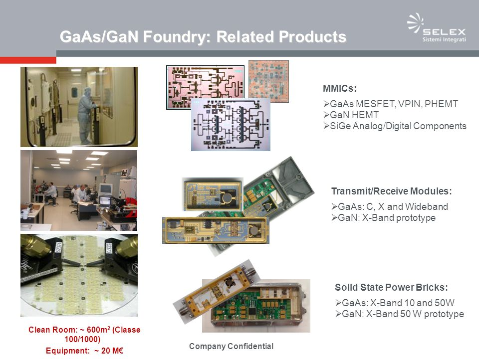 GaAs/GaN Foundry: Related Products