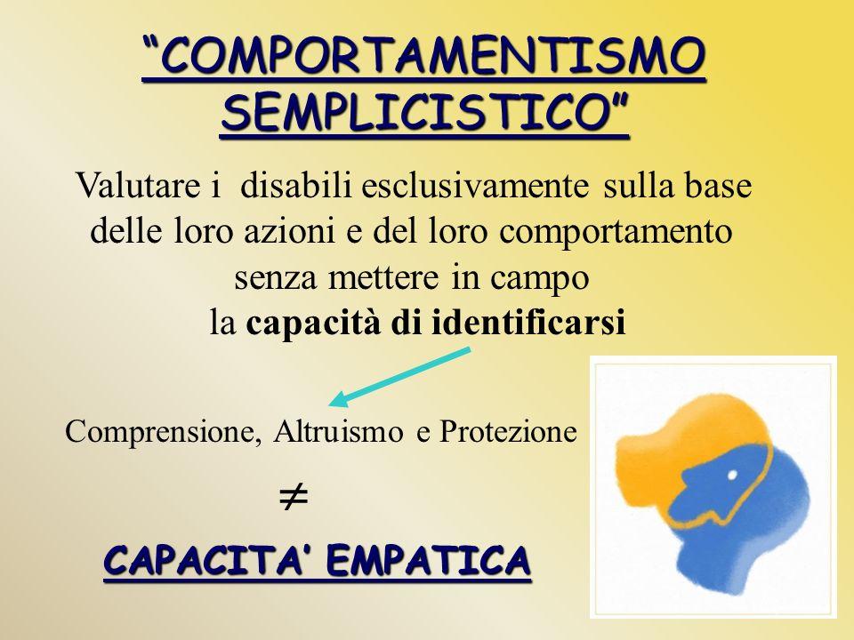  COMPORTAMENTISMO SEMPLICISTICO