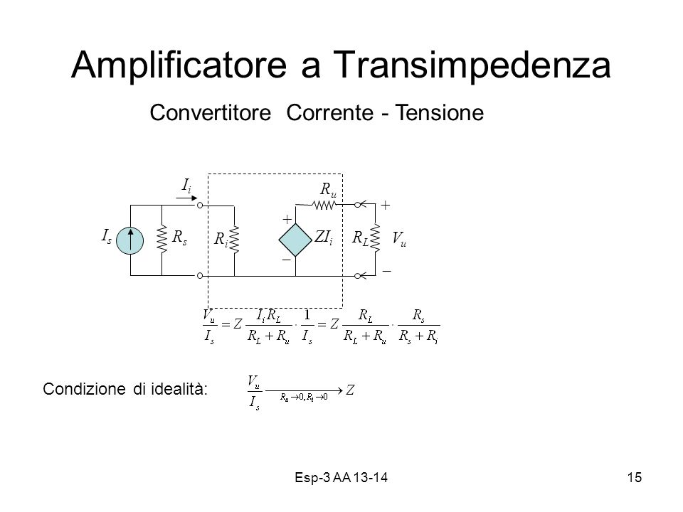 Amplificatore a Transimpedenza