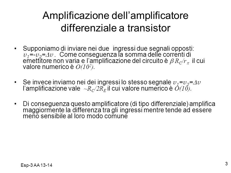 Amplificazione dell'amplificatore differenziale a transistor