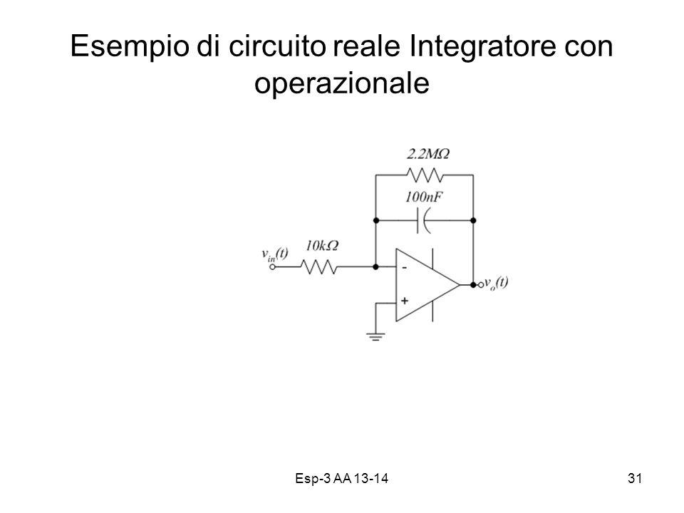Esempio di circuito reale Integratore con operazionale