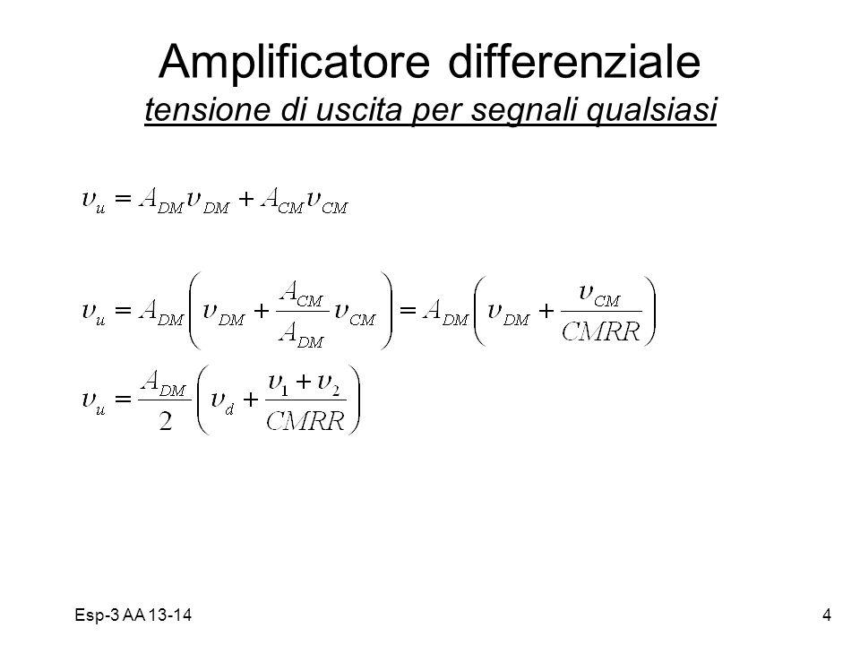 Amplificatore differenziale tensione di uscita per segnali qualsiasi