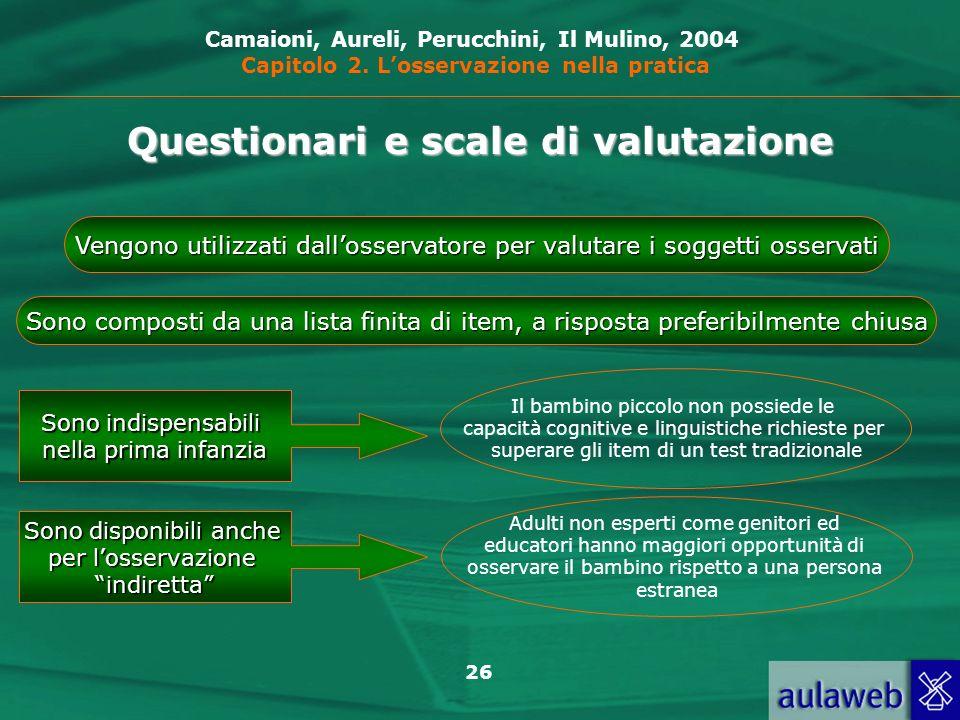 Questionari e scale di valutazione