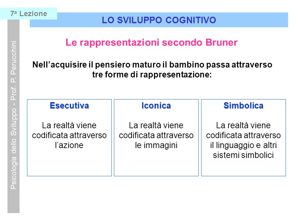 Le rappresentazioni secondo Bruner