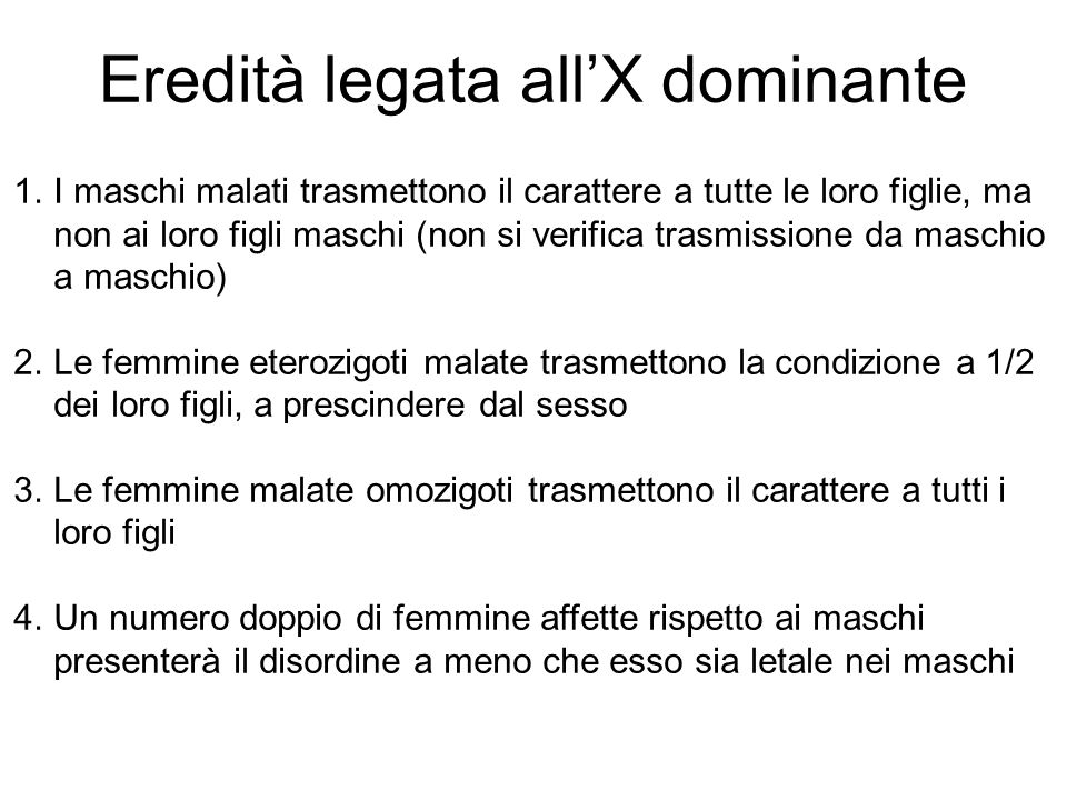 Eredità legata all'X dominante