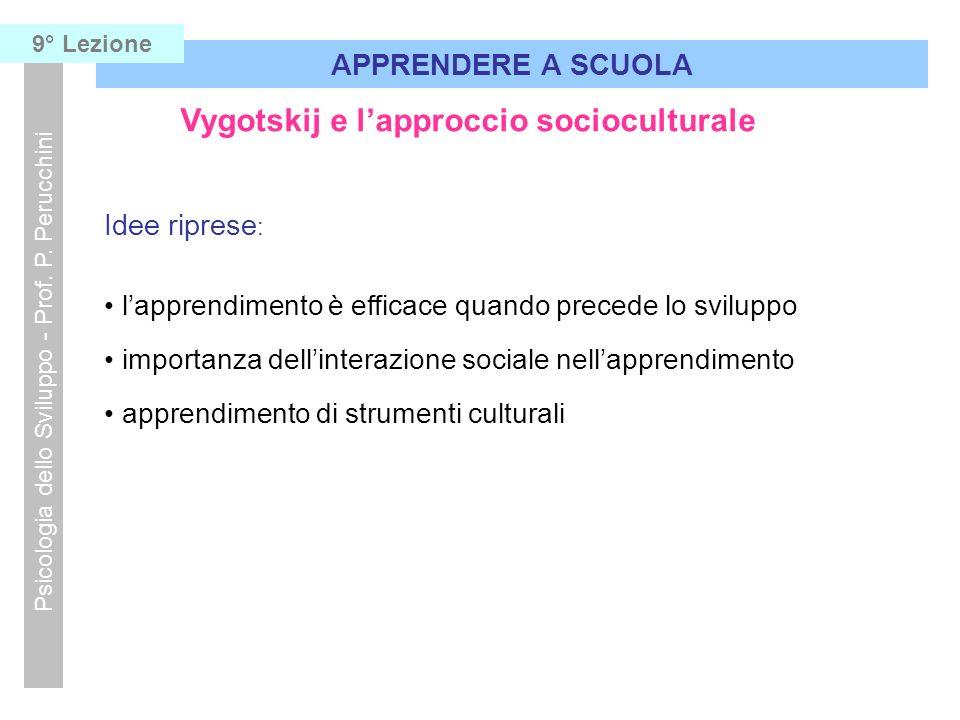 Vygotskij e l'approccio socioculturale