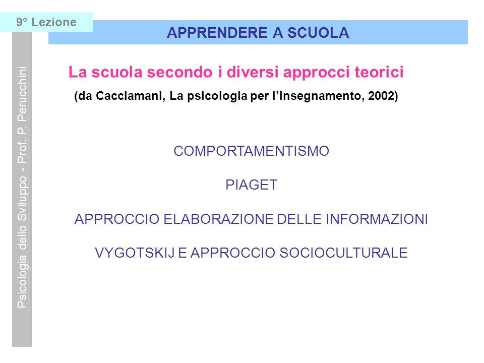 La scuola secondo i diversi approcci teorici