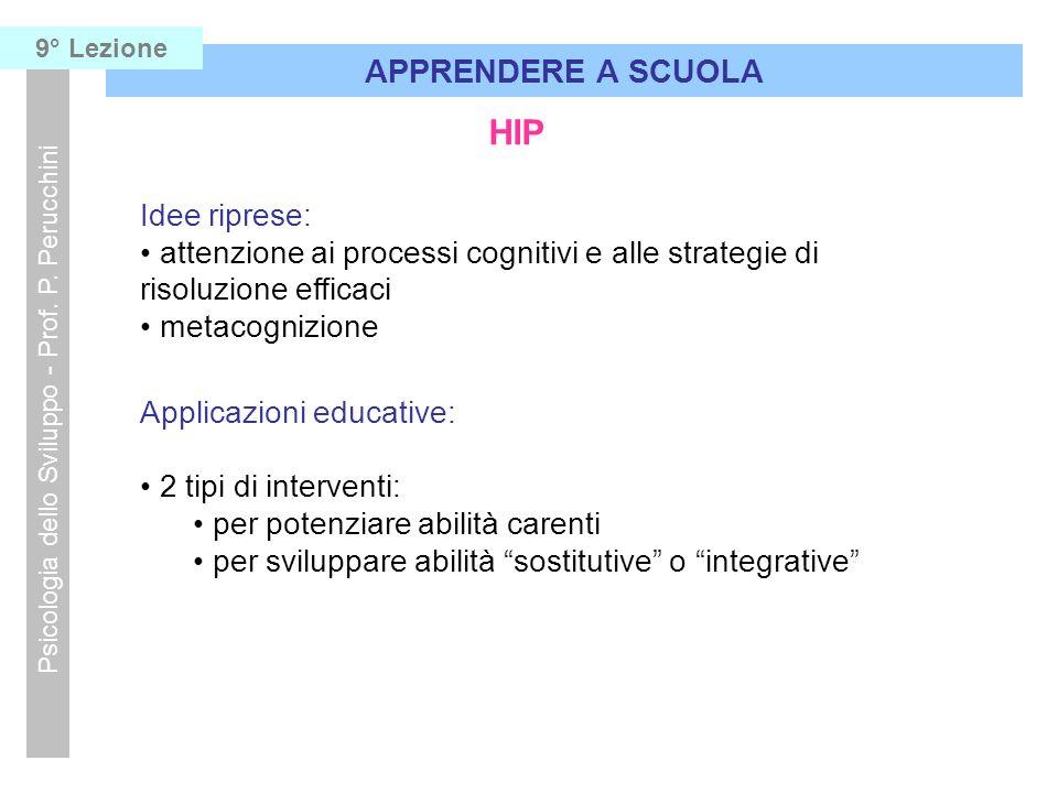 Psicologia dello Sviluppo - Prof. P. Perucchini