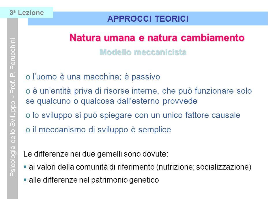 Natura umana e natura cambiamento