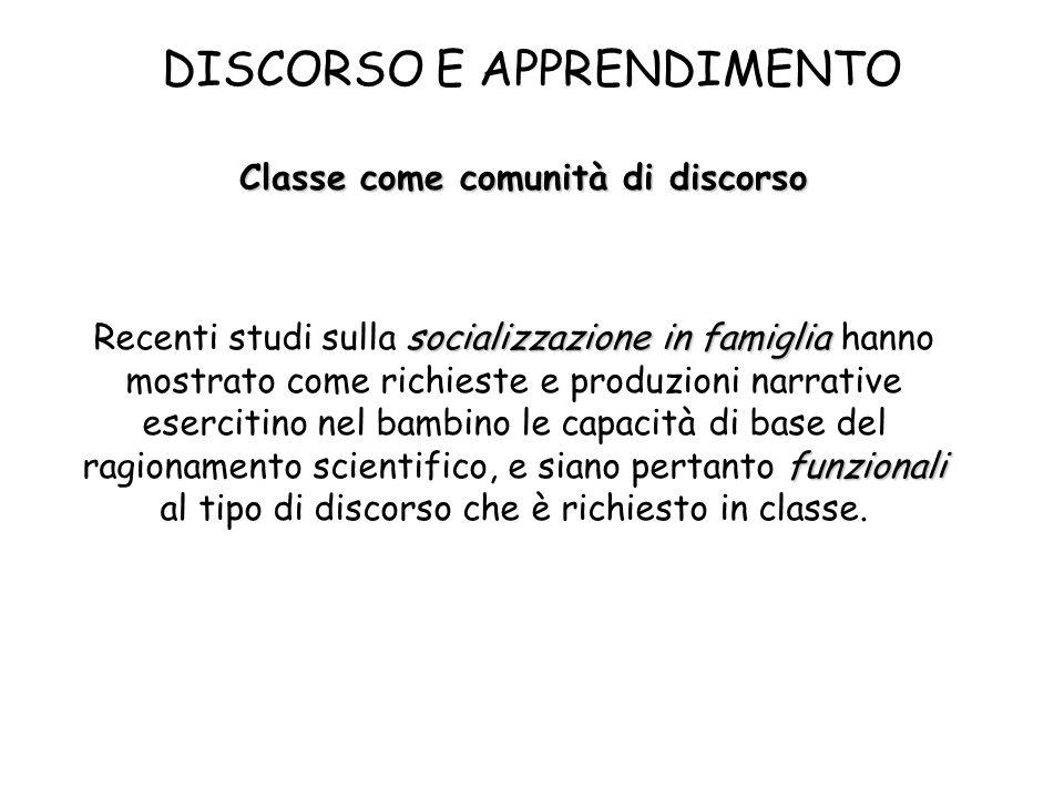 Classe come comunità di discorso