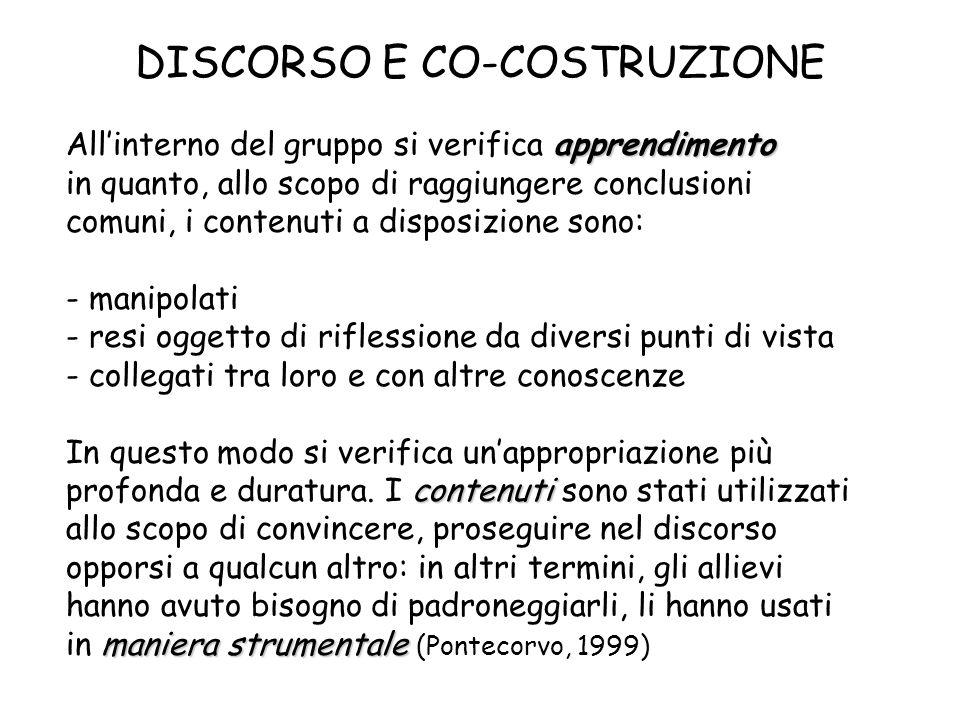 DISCORSO E CO-COSTRUZIONE