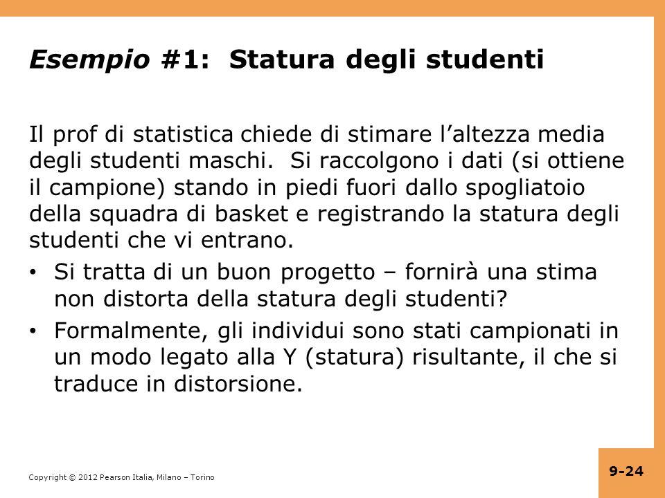 Esempio #1: Statura degli studenti