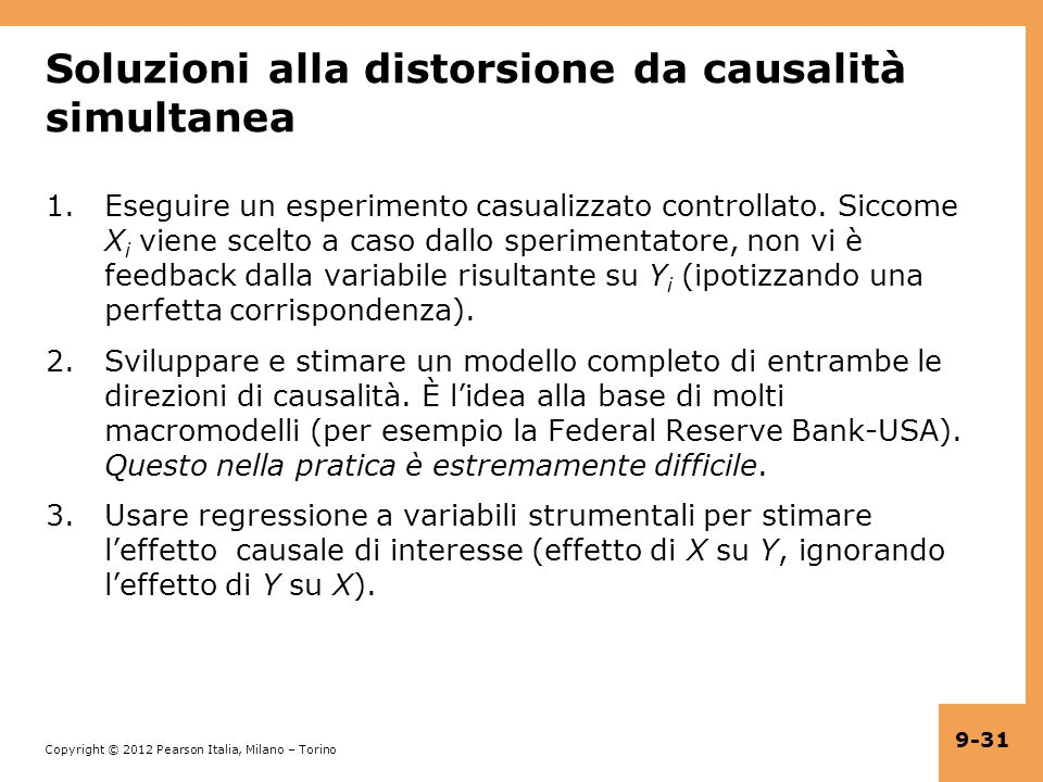 Soluzioni alla distorsione da causalità simultanea