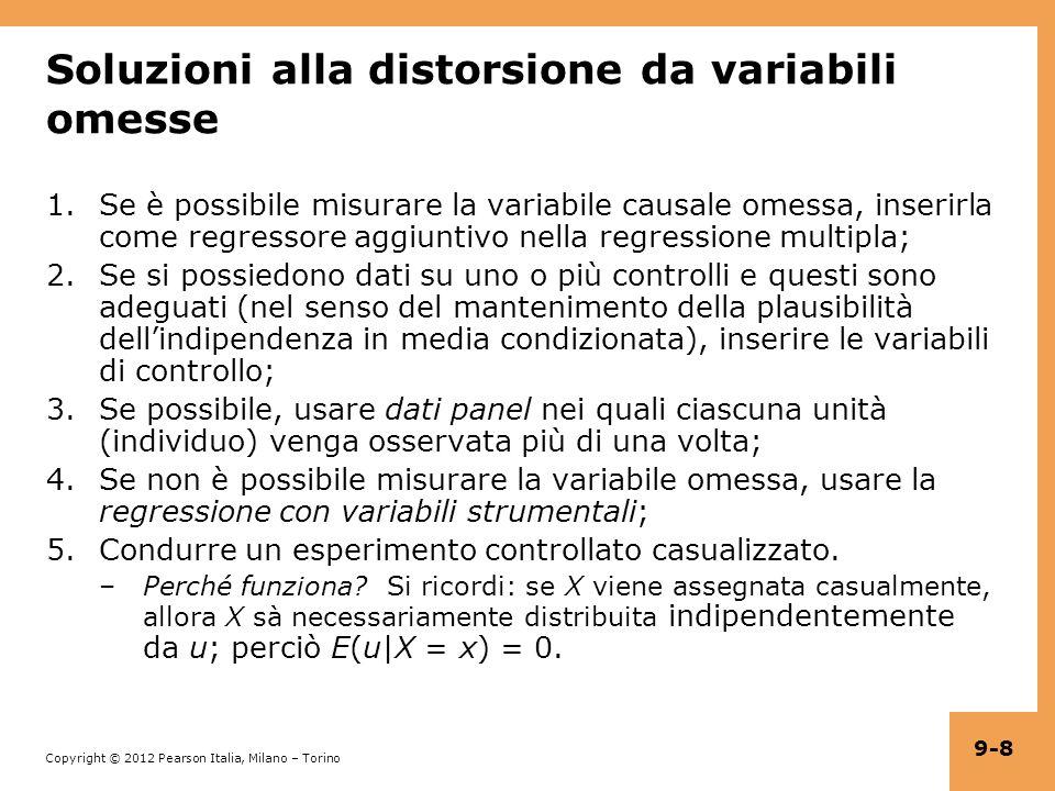Soluzioni alla distorsione da variabili omesse