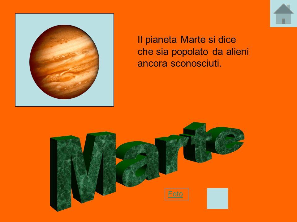 Il pianeta Marte si dice che sia popolato da alieni ancora sconosciuti.