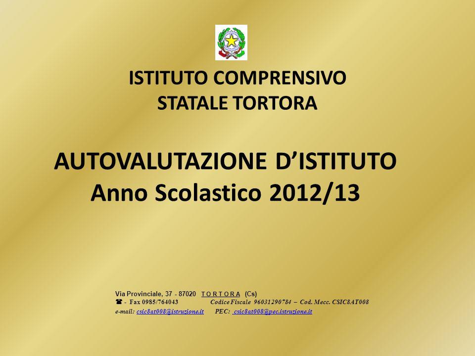 AUTOVALUTAZIONE D'ISTITUTO Anno Scolastico 2012/13