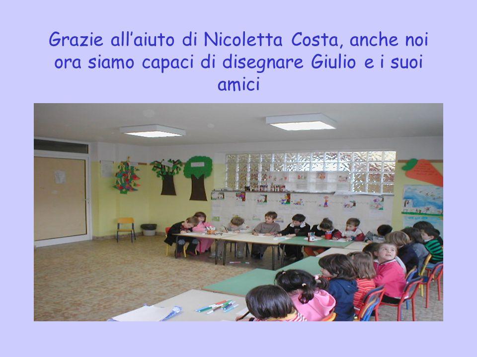 Grazie all'aiuto di Nicoletta Costa, anche noi ora siamo capaci di disegnare Giulio e i suoi amici