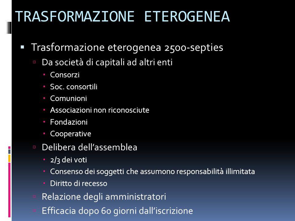 TRASFORMAZIONE ETEROGENEA