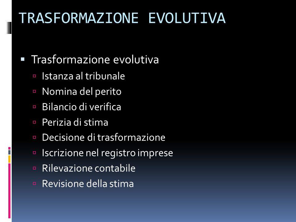 TRASFORMAZIONE EVOLUTIVA