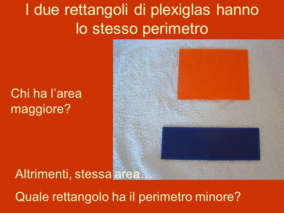 I due rettangoli di plexiglas hanno lo stesso perimetro