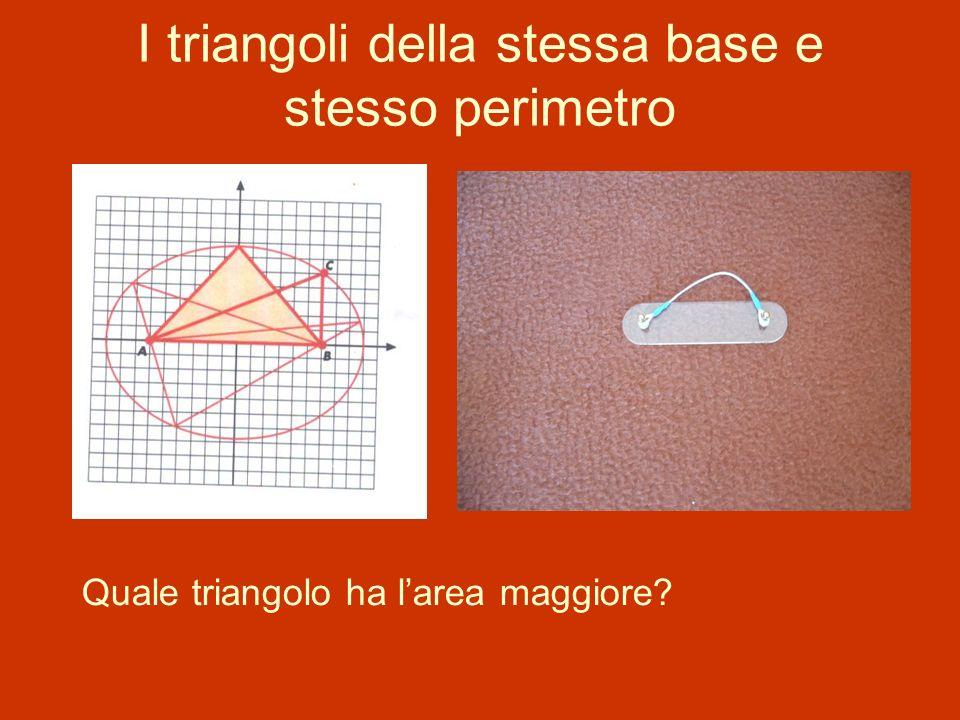 I triangoli della stessa base e stesso perimetro