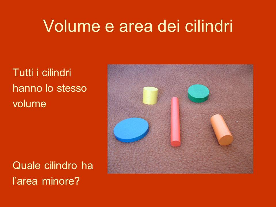 Volume e area dei cilindri