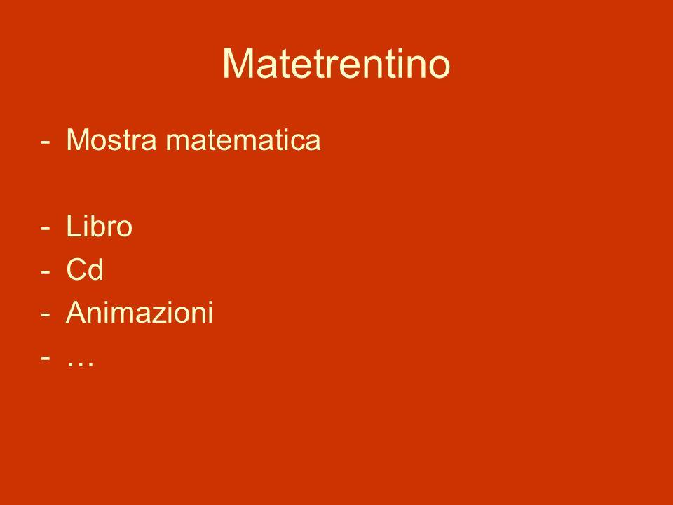Matetrentino Mostra matematica Libro Cd Animazioni …