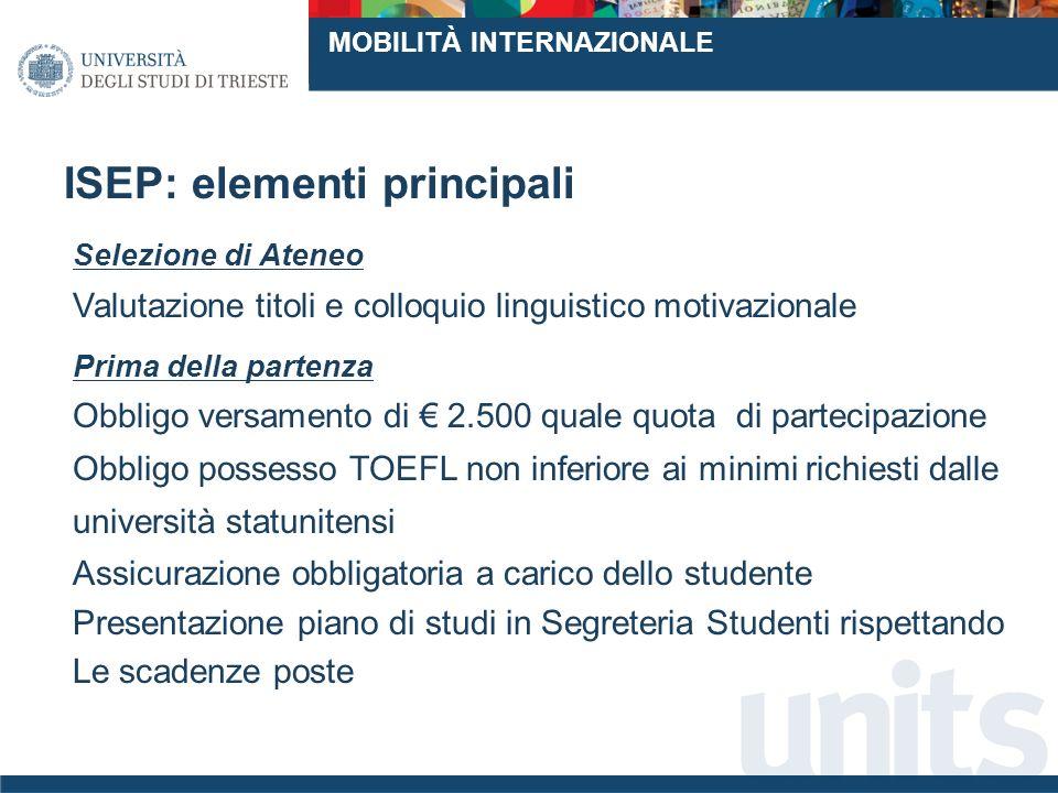 ISEP: elementi principali