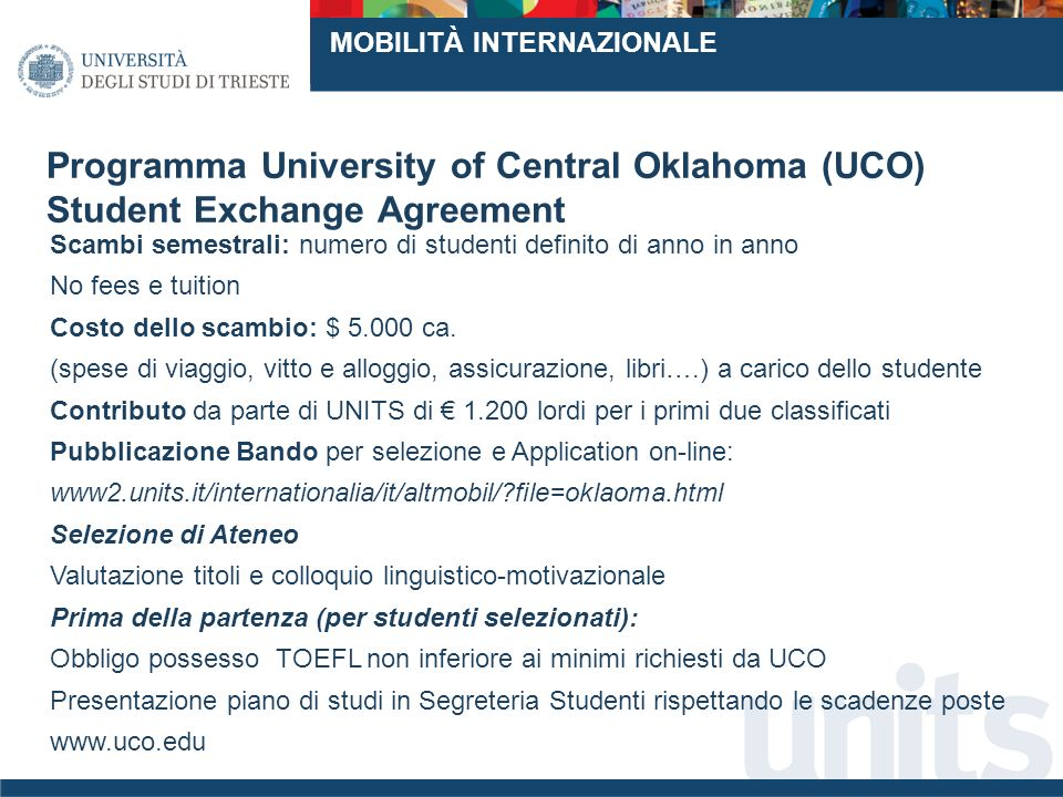 Programma University of Central Oklahoma (UCO)