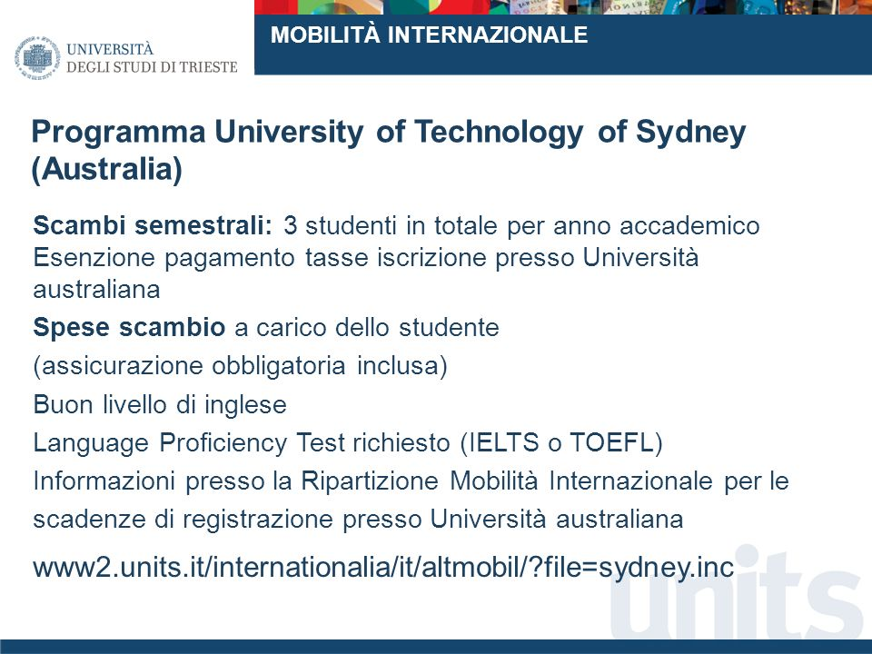 Programma University of Technology of Sydney (Australia)
