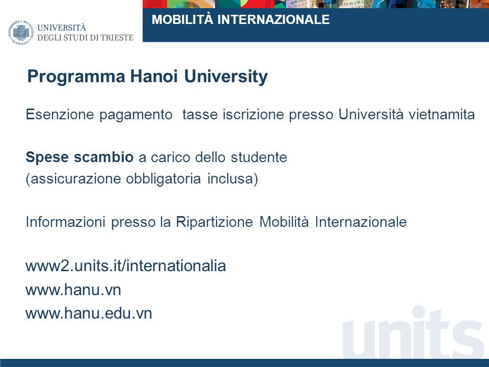 Programma Hanoi University