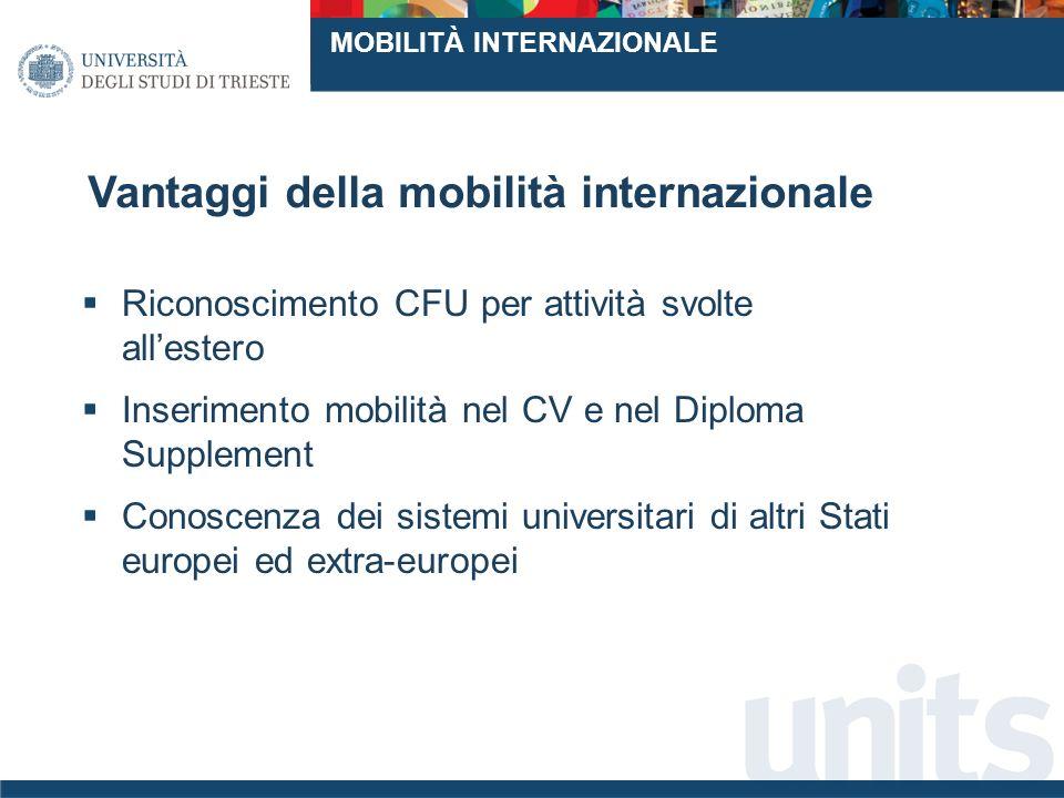 Vantaggi della mobilità internazionale