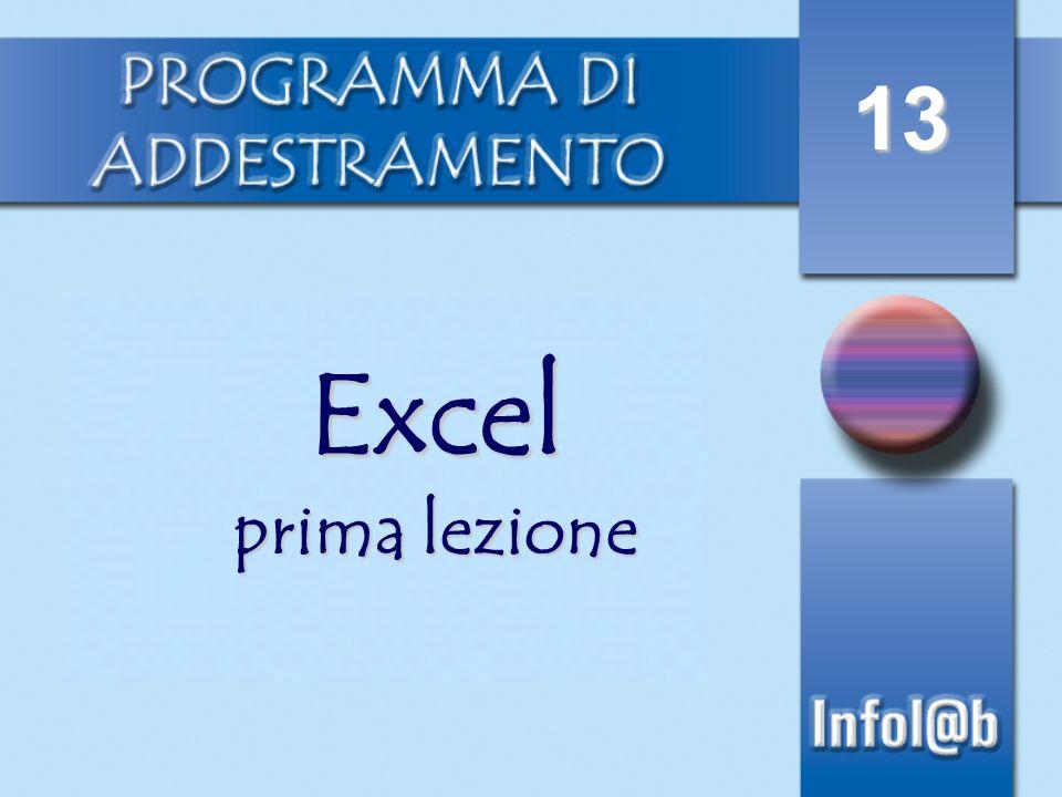 13 Excel prima lezione