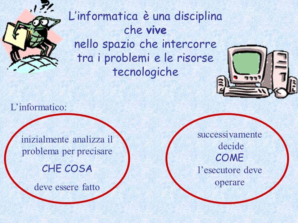 L'informatica è una disciplina che vive nello spazio che intercorre