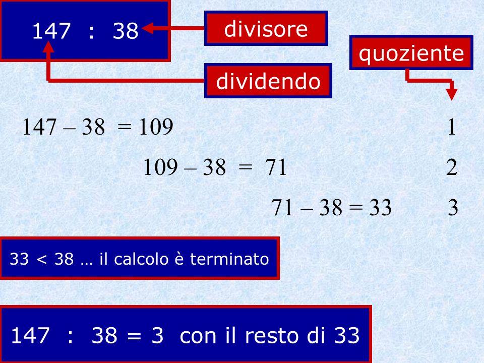 33 < 38 … il calcolo è terminato