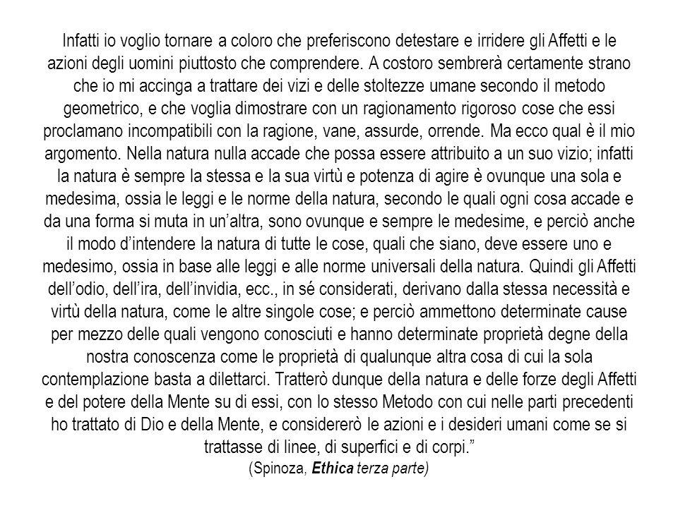 (Spinoza, Ethica terza parte)