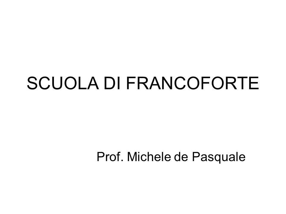 Prof. Michele de Pasquale