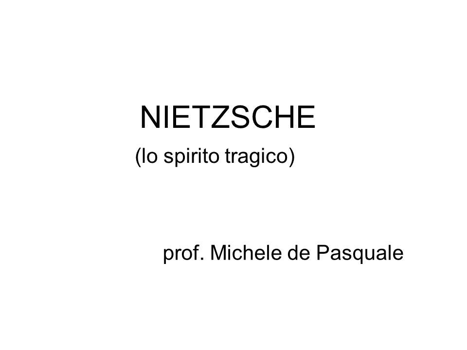 NIETZSCHE (lo spirito tragico)