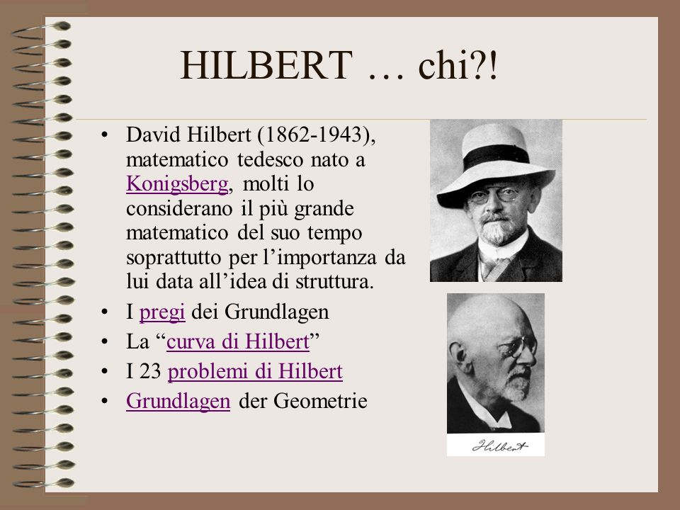 HILBERT … chi !