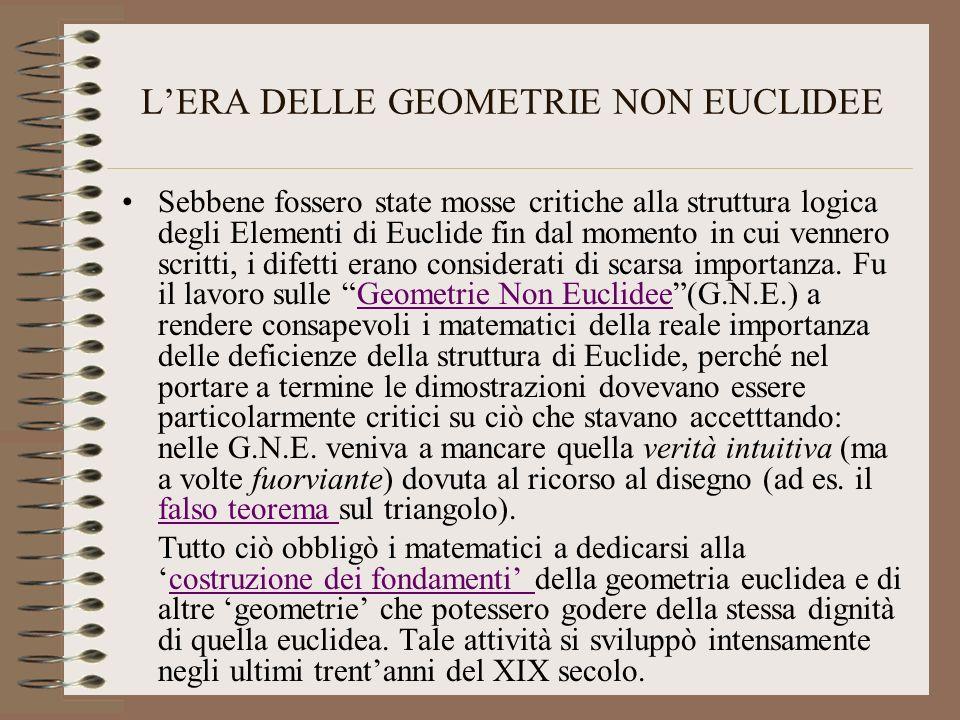 L'ERA DELLE GEOMETRIE NON EUCLIDEE