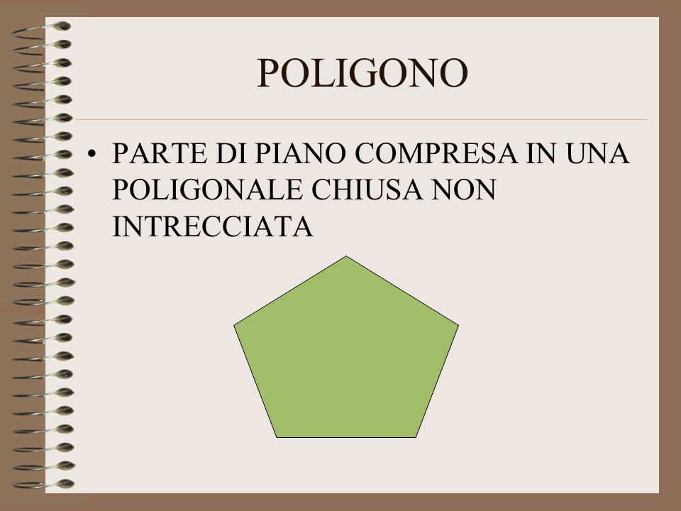 POLIGONO PARTE DI PIANO COMPRESA IN UNA POLIGONALE CHIUSA NON INTRECCIATA
