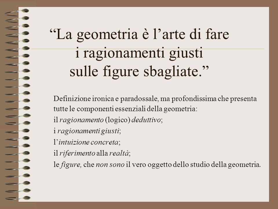 La geometria è l'arte di fare i ragionamenti giusti sulle figure sbagliate.