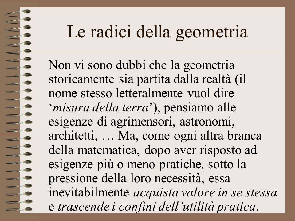 Le radici della geometria
