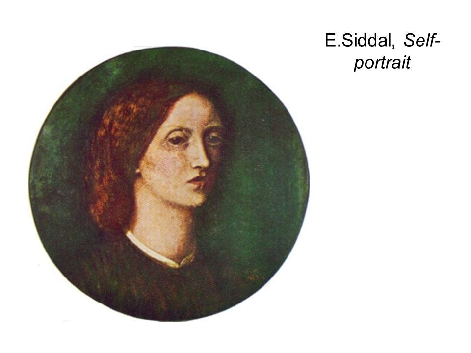 E.Siddal, Self-portrait
